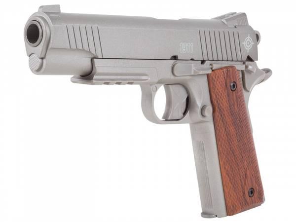 Bilde av Crosman - C1911S Co2 Drevet Luftpistol - 4.5mm Pellets - Sølv