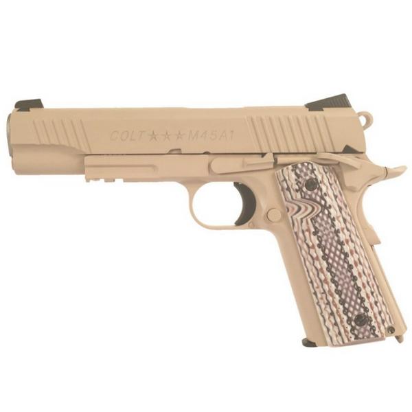 Bilde av Colt M1911 M45A1 TAN - Co2 drevet Softgun med Blowback