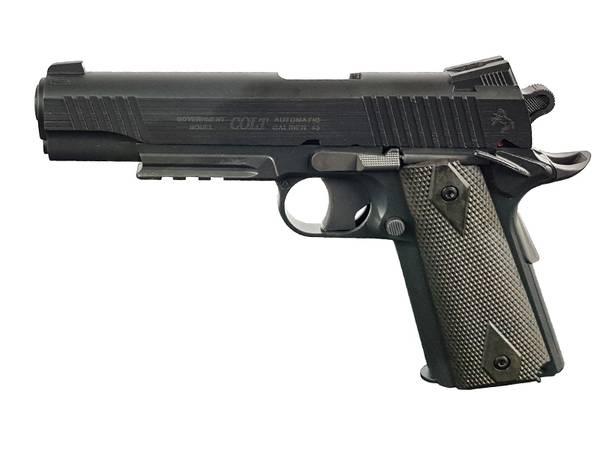 Bilde av Colt 1911 Rail - Co2 drevet Softgun uten Blowback - Svart