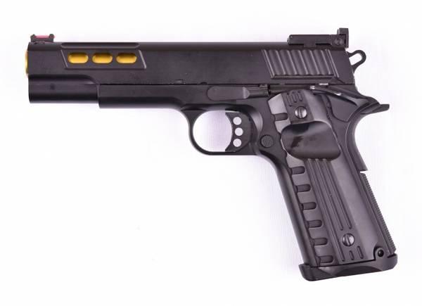 Bilde av GE - 1911 Night Gassdrevet Softgun Pistol med Blowback- Full Met