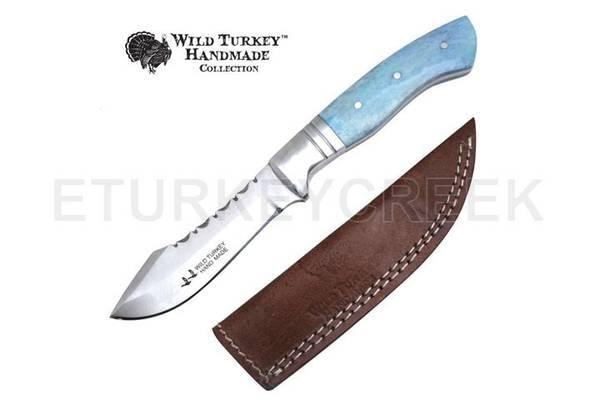Bilde av Wild Turkey - Håndlaget Fixed Blade Kniv - Silver/Blue