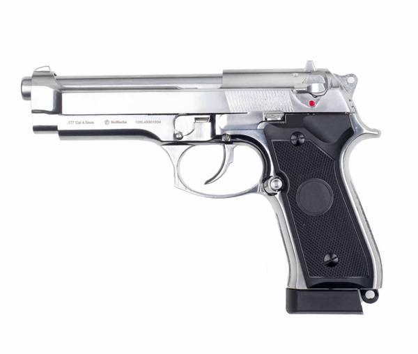 Bilde av NXW - M92 Premium 4.5mm Co2 Drevet Luftpistol - Sølv