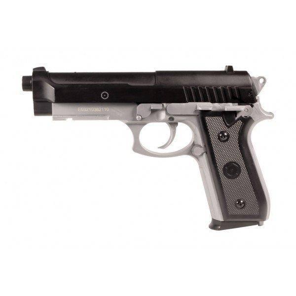 Bilde av PT92 Fjærdrevet Softgun Pistol med Metallslide - Dual Tone