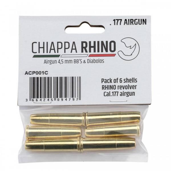 Bilde av 6stk Magasin Shells til Chiappa - Rhino Luftpistol Revolver - 4.